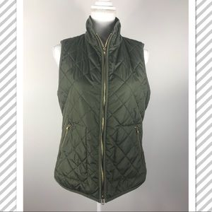 Old navy olive green puffer vest